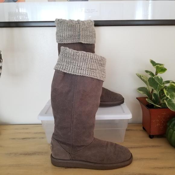 Coach Georgia Signature embossed suede boots